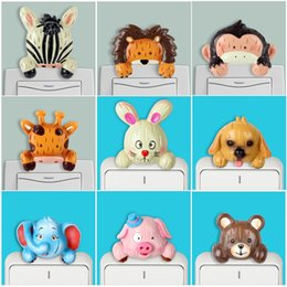 adesivos diy da resina Desconto 3D Interruptor Animal Adesivos Decalque Da Parede Dos Desenhos Animados Resina DIY Painel Adesivos Crianças quarto Home Decor Quarto Decoração Parlor