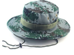 Wholesale Wide Hats - hot sale Cotton bucket hat for men Fashion Camouflage Camo Fisherman Hats With Wide Brim Sun Fishing Bucket Hat Camping Hunting Hat