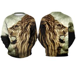 Roi lion à capuche en Ligne-Youthcare Pullover 3D pull King Lion imprimé Pull homme et femme