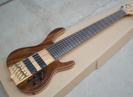 Incrustaciones de guitarra traste online-2018 Factory Custom 6 cuerdas bajo eléctrico con mástil, diapasón de palisandro, sin trastes, buena calidad