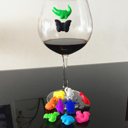 держатель винных чашек Скидка 12шт/ набор вечеринка, посвященная животному присоске бокал силиконовые этикетки силиконовые бокалы распознаватель маркер чая держатель