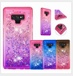 liquid case samsung galaxy a5 Desconto Para samsung galaxy s8 s9 além de nota 8 9 j3 j5 j7 2018 a5 a6 tpu + case pc glitter areia movediça líquido flutuando brilho sparkle casos de telefone brilhante