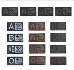 Wholesale olive types - Embroidered Patch US ARMY Olive Green Black Tan Military Blood Type Embroidery Patches Applique Emblem Tactical Morale Badges