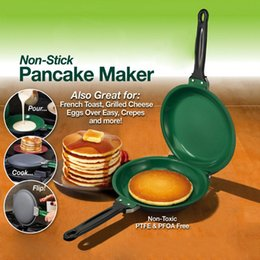 Sartenes para hacer panqueques online-Flip Ceramic Pancake Maker Moldes Diy Pizza Huevos Torta Omelette Sartén Cocina Herramientas para hornear Herramientas antiadherentes Pancake Maker