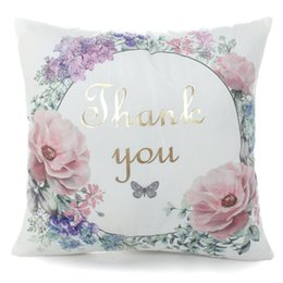 Wholesale Hospital Quality - High Quality Home Bronzing Pillow Case Printed Linen&Polyester Decorative Pillow Cases Home Pillowcase 45x45cm