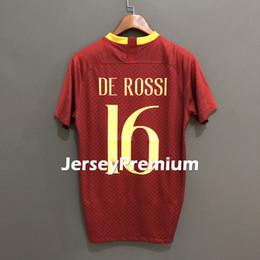 Wholesale gold mario - Nainggolan Strootman Dzeko Totti De Rossi Mario Rui Florenzi El Shaarawy Home Football Soccer Jerseys Wine Shirt