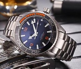 Wholesale Dive Sapphire - 2018 Luxury AAA Top Quality Planet Ocean Men Automatic Movement Watch Dive 600m Steel Mens Casual Wristwatches Transparent Back