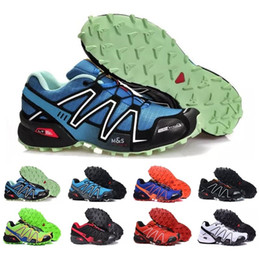 Wholesale Outlet Women Shoes - Brand Outlet UK Solomons Speedcross 3 CS Trail Running Shoes women Lightweight Sneakers Navy Solomon III Zapatos Waterproof Athletic Shoes