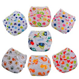 Wholesale diapers liners - 1pc Baby Adjustable Diapers Children Cloth Diaper Reusable Nappies Training Pants Diaper Cover 27 Style Washable Free Size D02