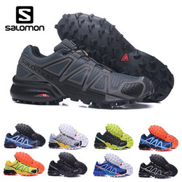 Zapatillas cruzadas online-Sale barato Salomon Speed ​​Cross 4 CS IV Hombres Zapatillas de deporte al aire libre que camina Jogging Sneakers Athletic Shoes SpeedCross 4 deportes Zapatos eur 40-46