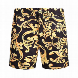 Wholesale Mens White Beach Pants - 2018 Men's shorts Men Fashion Knee Length luxury printing shorts Men's short Pants Black Mens Brand beach shorts sweatpants size M-2XL