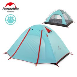 Wholesale Large Camping Tents - Naturehike 3 Persons Camping Tent Double Layer Outdoor Rainproof Windproof Hiking Camping Tent for Three Man Large Capacity