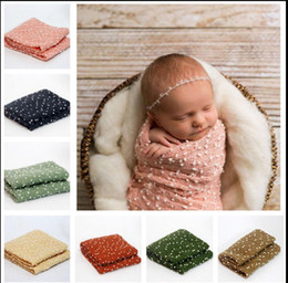 Wholesale babies bedding sheets - 150*50cm Kids Blankets photography prop Blankets infant Swaddling baby bed sheet Sleeping Bag Photography Prop KKA3804