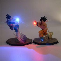 Figuras de ação do filho goku on-line-Z Son Goku Anime Luz Noturna PVC Action Figure Collectible Candeeiro de Mesa DIY Modelo 3D Brinquedo DBZ para Kid Bebê