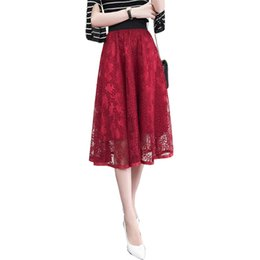 2018 nouveau design de mode chic femmes robe de bal jupes M-XL dentelle flowr fermeture à glissière taille élastique filles été fonds livraison gratuite ? partir de fabricateur