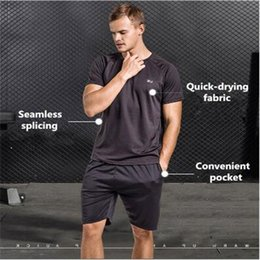 Wholesale morning suit white - Fitness suit men's suit, night morning jogging suit, student short - sleeve basketball suit speed dry suit.