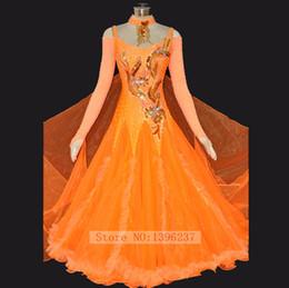 dança flamenca trajes mulheres Desconto Vestido de dança de salão personalizado valsa tango flamenco traje de dança mulheres padrão de salão de baile vestidos de dança