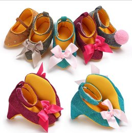 Wholesale toddler girls shoes china - 2018 girls Party High heels,china princess toddler shoes, 0-18 M kids Photo decoration shoes,autumn baby shoes!9pairs 18pcs.SX