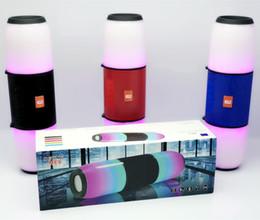 pilule légère haut-parleur bluetooth Promotion ME6 Bluetooth Haut-Parleur Pilule XL LED Light Party Portable Basse Sans Fil Grand Barre de Son TV Haut-Parleur Soutien TF Carte AUX FM Mic Haut Parleur