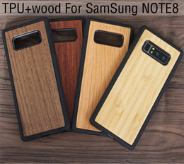 Wholesale Galaxy Note Wood - Laser Engraving Phone Case For Samsung Galaxy Note 8 S8 Plus TPU Bamboo Wood Case For Iphone 8 X 7 6 6s plus Wooden Cover