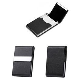 Calidad titular de la tarjeta de crédito metal online-Titular de la tarjeta de alta calidad Caja de tarjeta de crédito de aluminio y plata de acero inoxidable Carteras de mujer Nueva Vogue Hombres Caja de tarjeta de identificación 7 colores