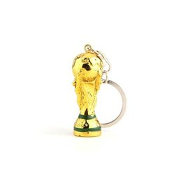 Wholesale copy bags - 2018 New Russia Copy Mascot Hercules Cup KeyChains for Football Cup key ring Llaveros Chaveiro Porte Clef