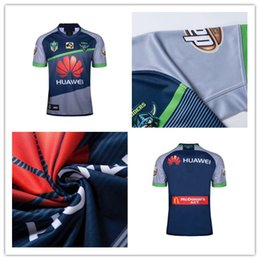 Wholesale Raiders Shirt L - new CANBERRA RAIDER S 2018 2019 Home away rugby Jerseys NRL National Rugby League rugby shirt nrl jersey shirts