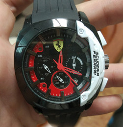 Wholesale Wristwatch Cars - Luxury sports car brand LOGO Men Watch 46mm Full function 6 pin run seconds fashion luxury Watches Relogio Masculino Sports wristwatch