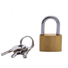 Wholesale Mini Padlocks - 20MM small copper lock luggage case padlock box case lock mini lovers