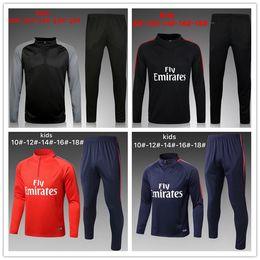 Wholesale Wears Pants - 2017 Paris Neymar kids survetement football tracksuits 16 17 Ronaldo POGBA boy Long pants wear city kids training suit jacket kit