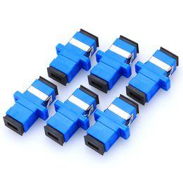 506e955e62be4 Adapters Fiber Media Converter SC Fiber Optic Adaptor SC UPC Simplex Square  Converters SC Adapter Single mode UPC Simplex 50pcs