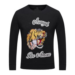 Wholesale Long Stocking Hats - Spring And Autumn New Pattern Long Sleeve Sweater Male Pure Cotton Round Neck Tiger Printing Pullover Sweater High Archives Goods In Stock R