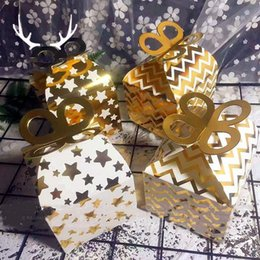 Wholesale Full Craft - Gilding Candy Box Packing Portable Carton Bag Baking West Point Cake Wedding Full Moon Fold Gift Wrap 1 48rs V
