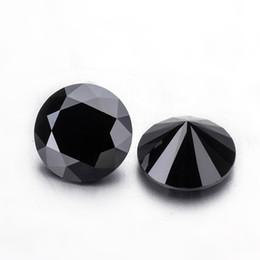 Bijoux en diamant en Ligne-Moissanites de couleur noire, 5,0 mm de diamètre, diamants lâches coupés brillants, moissanites, pierres précieuses pour la fabrication de bijoux