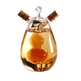 Pentole di aceto di oliva online-Creative Dual Use Leak Oil Pots Condimento di vetro resistente al calore Bottiglie Sealed Sauce Acegar Pot Bottle Caster