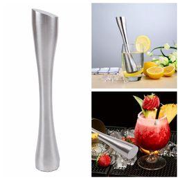 Wholesale breaks bar - Pure Stainless Steel Bar Broken Popsicle Swizzle Stick Lemon Citrus Crushing Hammer Bartenders Tools DIY Barware DDA709