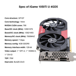 Wholesale Nvidia Geforce Graphic Cards - NVIDIA GeForce GTX 1050Ti 1050 ti GPU 4GB GDDR5 128bit Gaming Video Graphics Cards For Desktop than 960 750Ti