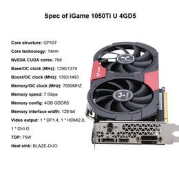 Argentina NVIDIA GeForce GTX 1050Ti 1050 ti GPU 4GB GDDR5 Tarjetas de video gráficas de 128 bits para escritorio que 960 750Ti cheap gaming graphics card nvidia Suministro