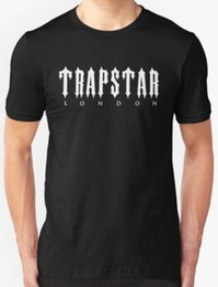 2018 marca de alta calidad para hombre New Trapstar London Ropa para hombre Camiseta tamaño divertido regalo corto manga corta camiseta Tops cuello redondo camisetas desde fabricantes