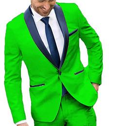 Uma peça de vestidos de noiva on-line-Alta qualidade 3 peça moda vestido casual magro verde personalizado um botão dos homens magro casamento bola jaqueta calças colete