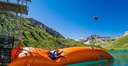 Salto de água on-line-Frete grátis! Preços do salto da gota da água com o encerado inflável gigante do PVC dos brinquedos 5 * 2m 0.9mm da água