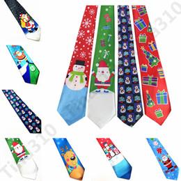 nouveautés Promotion 24 styles noeuds de noël arbre de Noël bonhomme de neige nouveauté cravate rouge père noël flocon de neige cou cravate pour cadeau de noël 30pcs T1I953