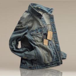 9a109853e038 6 EXTRA LARGE Frühjahr neue Herren Jacke Denim Oberbekleidung Mäntel Jacke  männlich koreanische dünne Retro-Stil Denim-Mantel