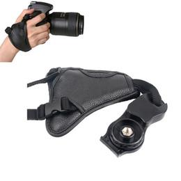 Wholesale Shockproof Dslr - Hand Wrist Strap Camera DSLR Neoprene Cameras Wrist Strap DSLR Hand Belt Quick-release 1 4'' Screw For NIKON COOPLIX P7800 Canon