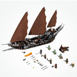 Wholesale toys pirate caribbean - wholesale 16018 The Lord Of The Rings Pirate Ship Ambush Caribbean Model Building Blocks Toys For Boy Gifts Compatible legoing79008