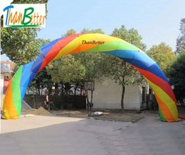 Wholesale inflatable tunnels - ThanBetter Customized cheap advertising inflatable balloon event rainbow entrance tunnel archway for race gate glow start line