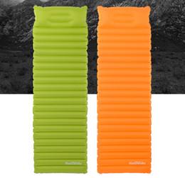 Wholesale air bag shipping - Ultralight Inflatable Mattress Tent Air Mat With Pillow Camping Moisture-proof Pad Outdoor Sleeping Mat Support FBA Drop Shipping H224Q