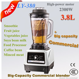 Wholesale mixer juicer - commercial blender,2300 Watt 3.8L large capacity Heavy duty use,industrial high speed,bean product coffee grinding,Juicer,Mixer