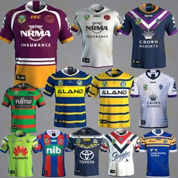Wholesale Blue Rhino - 18-19 nrl Brisbane Broncos Parramatta Eels rugby jersey Cowboys Newcastle Knights Sydney Roosters South Rabbitohs Leeds Rhinos jerseys shirt