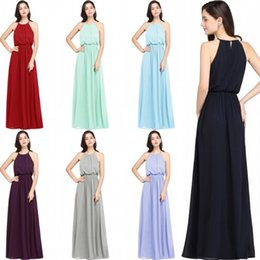 Wholesale Cheap Dresses For Proms - 2018 New Cheap Chiffon Bridesmaid Dresses For Summer Beach Garden Weddings Real Picture Party Evening Dresses Long Prom Gowns CPS618